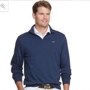 Vineyard Vines Navy Blue Quarter Zip Sweater
